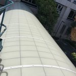 Awning panels cleaning